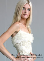 Miss International 2009 Top15 Finalist- Miss Belarus Yana Supranovich