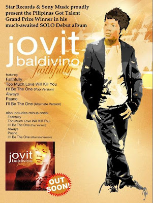 Jovit Badivino FAITHFULLY | The very first album of the first Pilipinas Got Talent winner now available ONLINE and on music stores