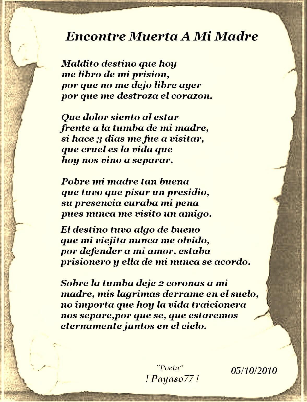 Poemas Para MI Madre Muerta