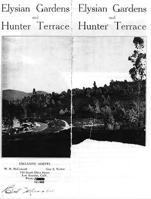 real estate brochure cover. 1922 Real Estate Brochure