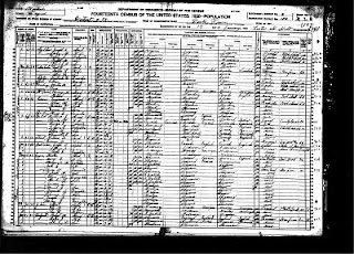 Census Page Denton, MT, Eagen Family 1920