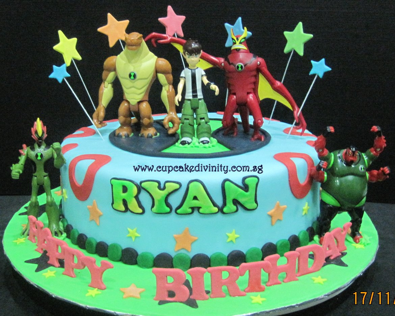 Cupcake Divinity Ryans Ben 10 Cake Figurines Provided By Customer