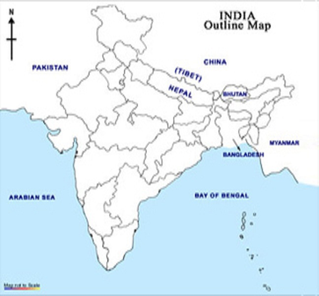 World global mapping bw outline map a4 stanfords india political my world december world physical map in a4 size gumiabroncs Gallery