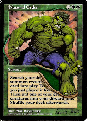 Natural Order Magic the Gathering Altered Art Gallery Mtg altered card art Mtg altered art NanaNsNs Incredible Hulk Comic book art