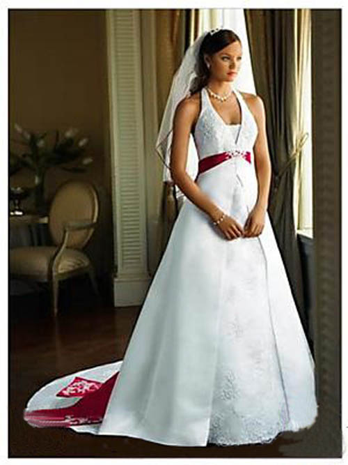 Dream Red and White Wedding Dress
