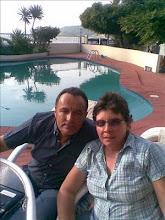 Ufólogo Ing. Jaime Rodriguez T. junto con Verito Tamariz