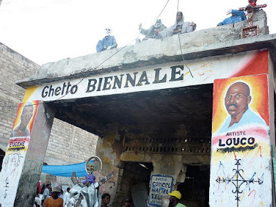 photo: Ghetto Biennale signage