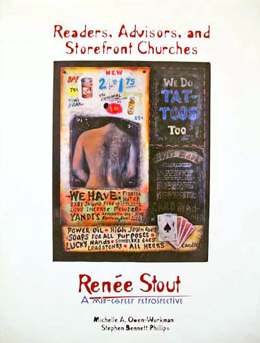 Artist: Renee Stout, book cover of Readers, Advisors and Storefront Churches