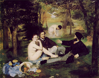 Artist: Edouard Manet, Luncheon on the Grass