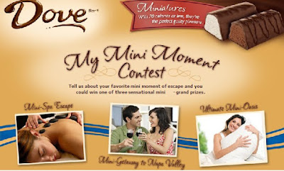 Dove Ice Cream My Mini Moment Contest