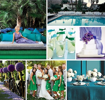 There are so many ways to incorporate colors into a wedding