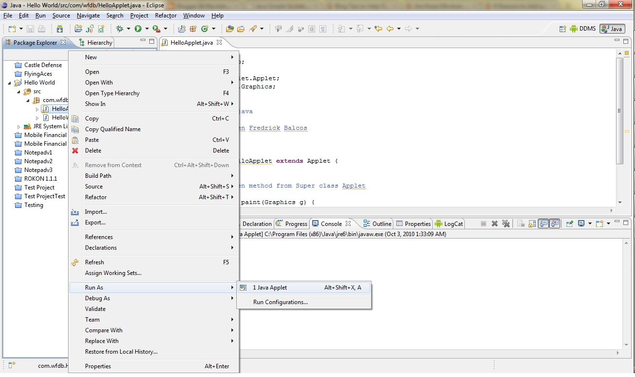 Drawing Lines In Java Applet : Java applet tutorial abalori au