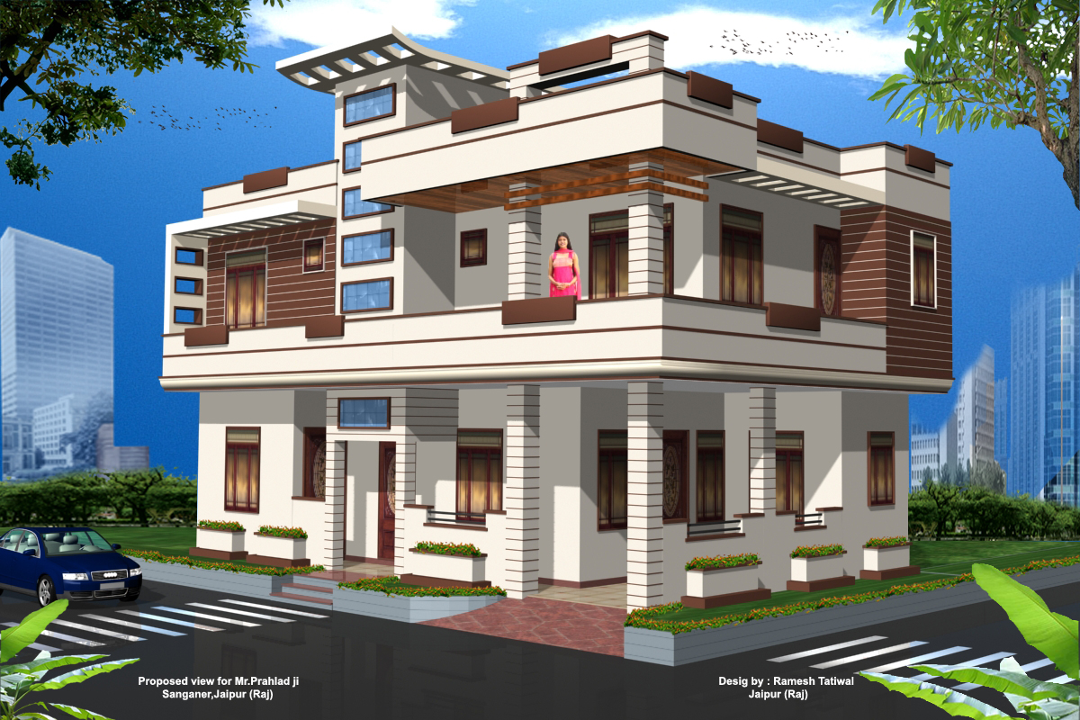 Home office design home design future colour front for Front design of small house