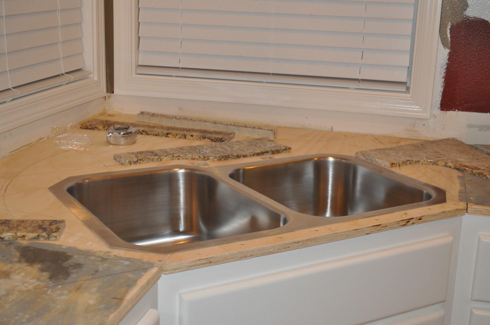 Kitchen Sinks For Granite Countertops the dizzy house: diy granite mini slabs + undermount sink