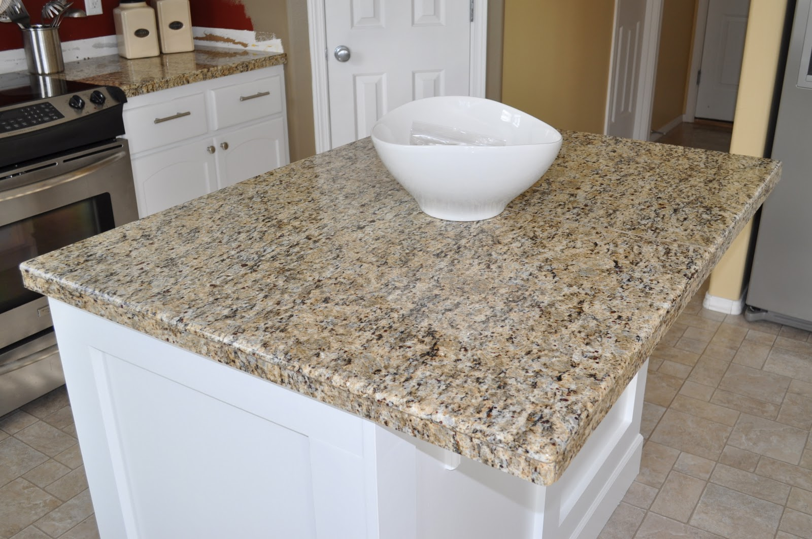Kitchen Countertop Tiles The Dizzy House Diy Granite Mini Slabs Undermount Sink