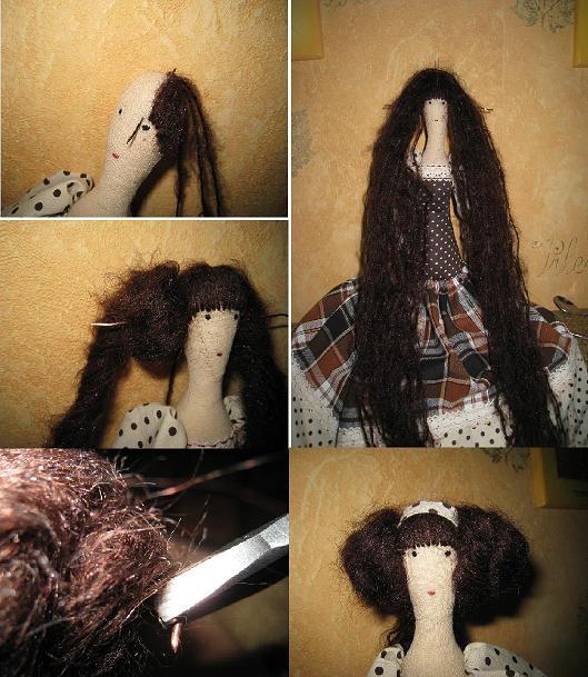 Волосы для тильды мастер класс