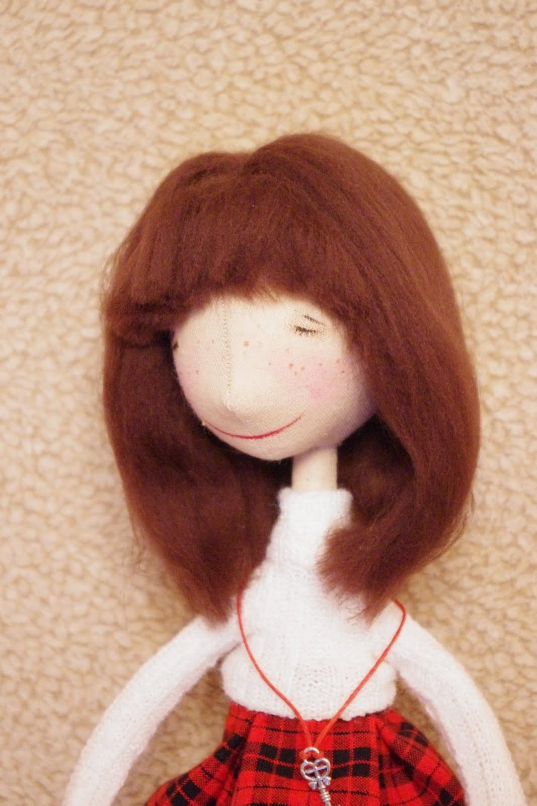 Волосы для тильды из шерсти для валяния