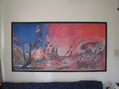 barbara remington lord of the rings poster hung in frame