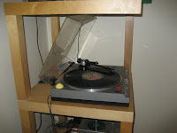 IKEA lack record player turntable stand close