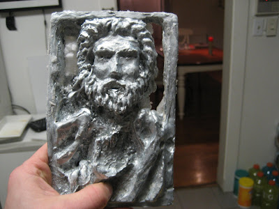 jesus relief in cast zinc