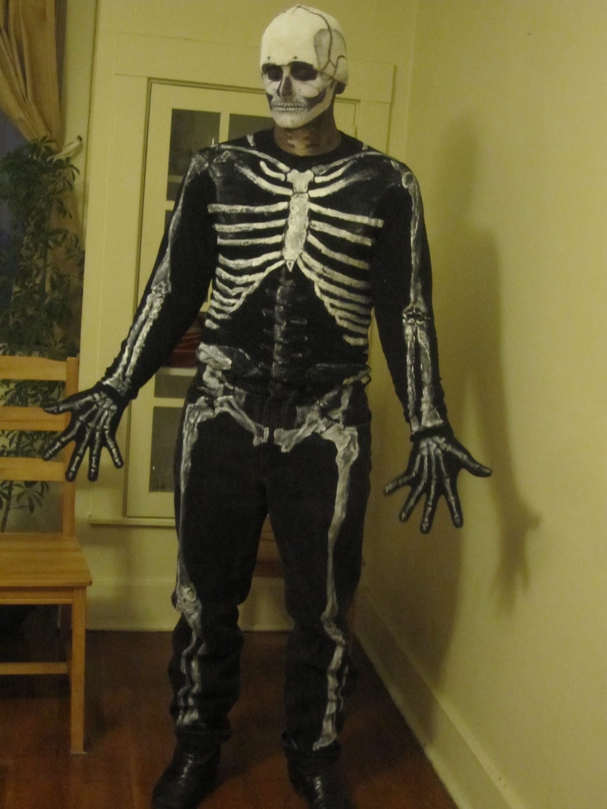 costume skeleton accurate halloween bored costumes mike diy paint funny medical 2009 student dermatome october