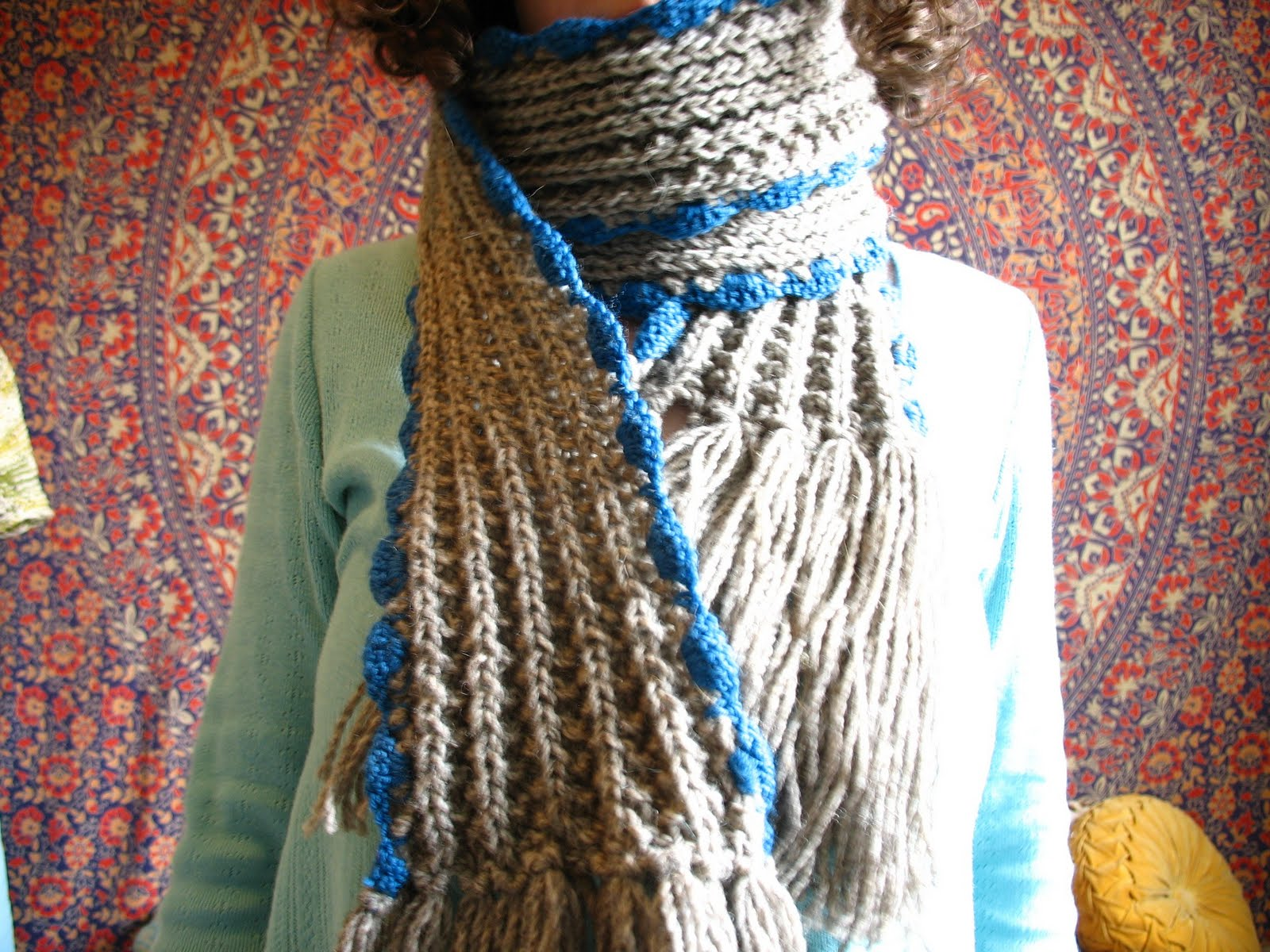 Viking Knitting Patterns : bohoknits: Viking Scarf