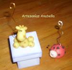 Portamensajes: animalitos en porcelana fría