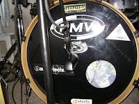 Posição 1 - posicionando microfone no bumbo