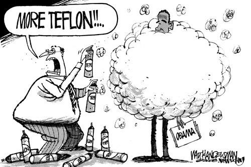 obama is teflon covered