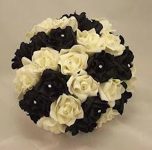 Black Cream Wedding Posy
