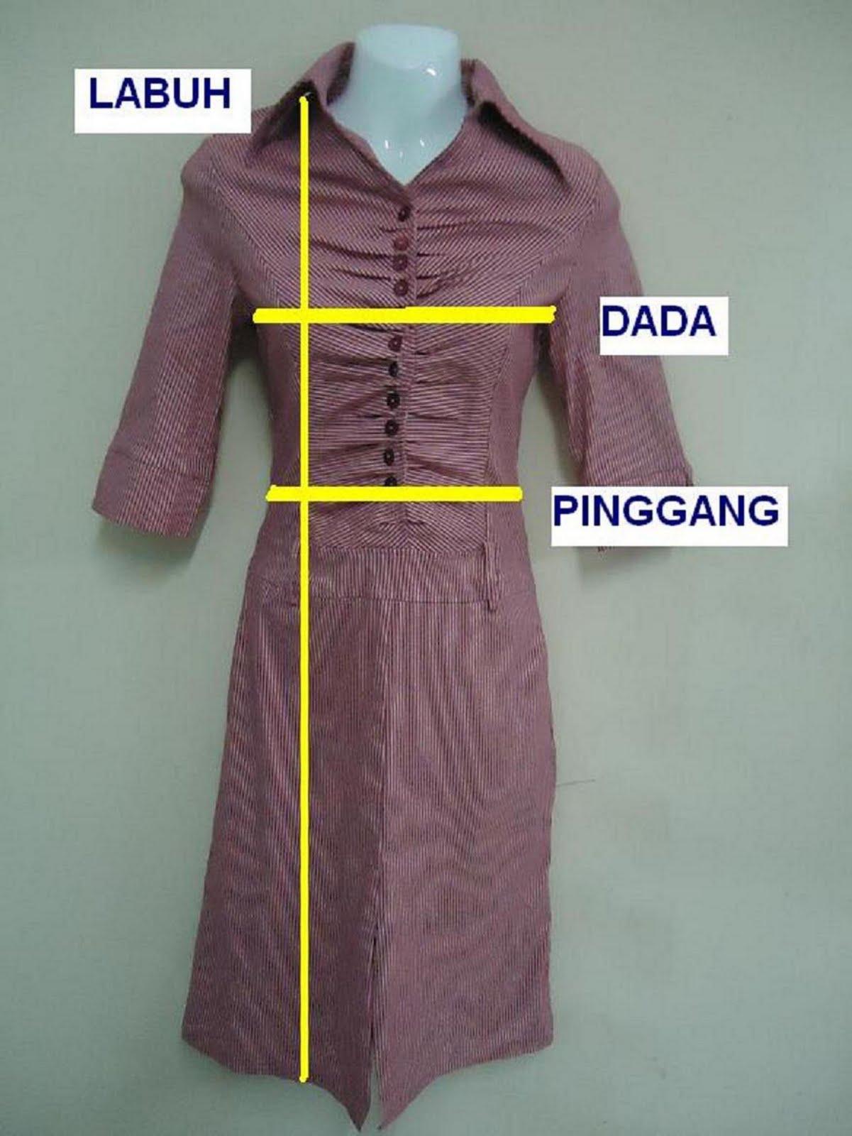 Cara Mengukur Saiz Untuk Dress