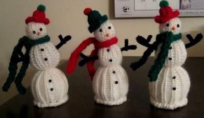 snowman knifty knitter