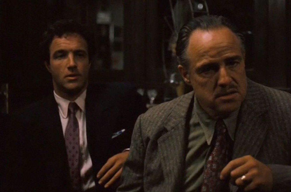 James Caan and Marlon Brando Godfather