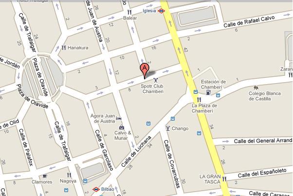 Estamos en la C/ de Raimundo Lulio 16, Metro Iglesia (salida C/ Sagunto)