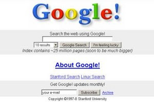 First Google Page 1997