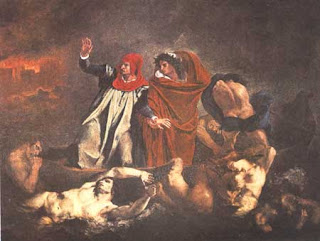 Божественная комедия Э.Делакруа ( XIX в. ). Данте и Вергилий в Аду.<br />Париж, Лувр