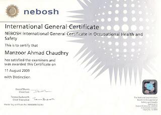 NEBOSH International General Certificate I