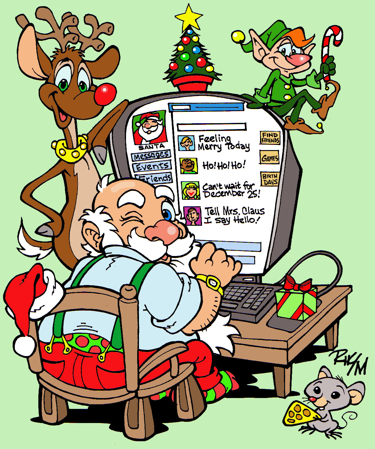 Riktoonz cartoonistcaricaturist rick c moore december 2010 own own personal christmas greeting for all my friends and family on facebook christmas 2010 kristyandbryce Gallery
