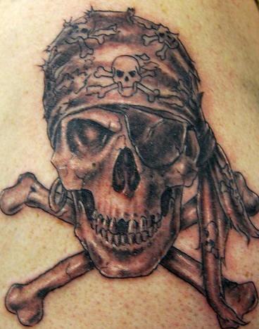 skull and crossbones tatoos. Skull and Cross Bones Tattoo