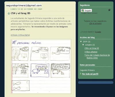 Imagen del blog de los chicos.