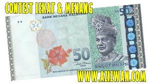 """Penyertaan Contest Lekat & Menang anjuran www.azizwan.com"""