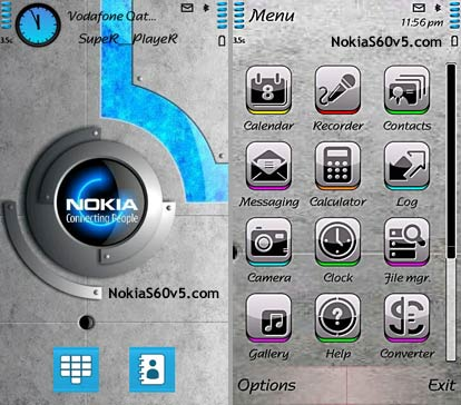 wallpaper for nokia x6. Nokia Security Theme For S60v5