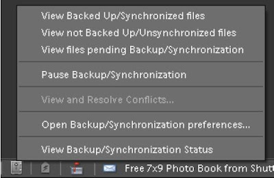 posted by VJ : How to check Backup/Sync Status and use other controls related to Synchronization Activities in Adobe Photoshop Elements: Adobe, Adobe Photoshop Elements, www.photoshop.com, Status, Organizer,