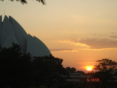 Sunset @ Lotus Temple, Delhi. This House of Worship is generally referred to as the