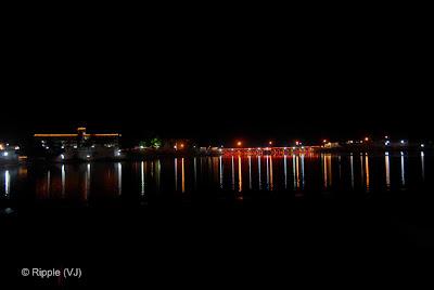 Posted by Ripple (VJ) : Pushkar Night View: Bridge on Pushkar Lake...