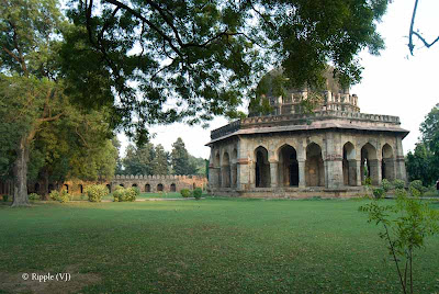 Posted by Ripple (VJ) : A visit to Lodhi Garden, Delhi, INDIA :: The tomb of Mohammed Shah is visible from the road, and is the earliest structure in the gardens.