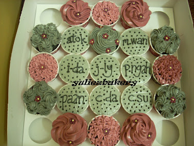 Cupcake with buttercream design