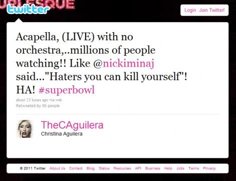 Racine Pin Up Calendar. Christina Aguilera screws up