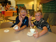 Trayj & his buddy Will at Ice Cream Social Aug. 2009