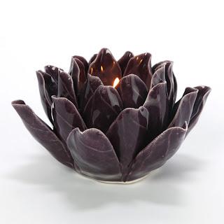 ZGallerie Plum Fleur de Lis Tealight
